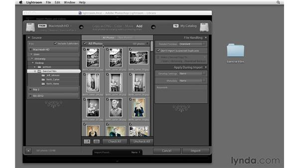Using the exercise files: Lightroom 4 Essentials: 04 Creating Slideshows and Web Galleries