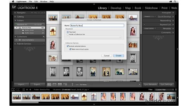 Using collections to group images: Lightroom 4 Essentials: 04 Creating Slideshows and Web Galleries