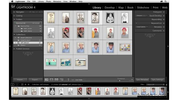 Renaming and reordering images: Lightroom 4 Essentials: 04 Creating Slideshows and Web Galleries