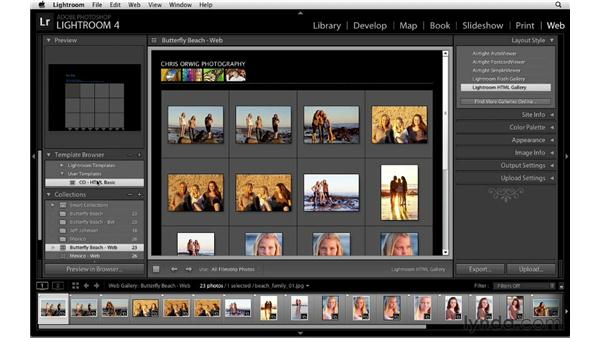 Saving custom templates: Lightroom 4 Essentials: 04 Creating Slideshows and Web Galleries