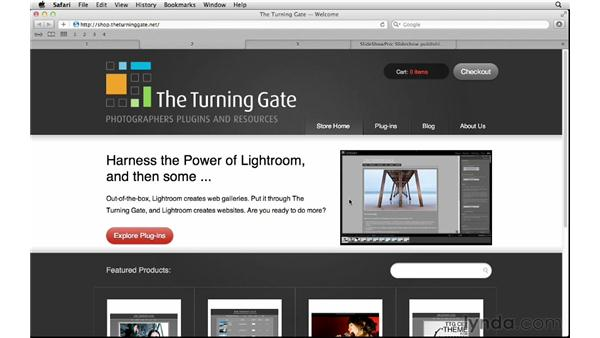 Exploring online web gallery resources: Lightroom 4 Essentials: 04 Creating Slideshows and Web Galleries