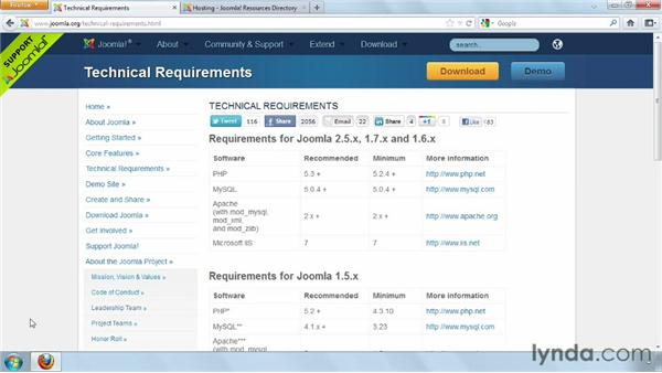 Web hosting overview : Joomla! 2.5 Essential Training