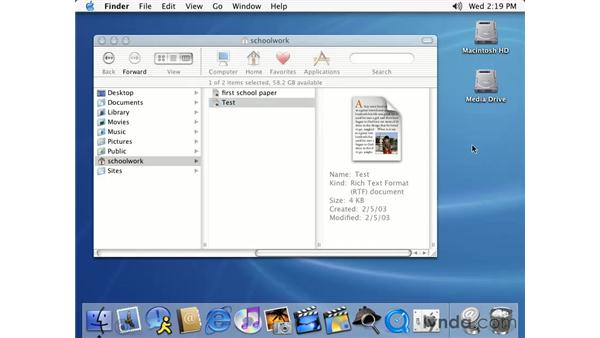 moving, copying and deleting files: Learning Mac OS X 10.2 Jaguar