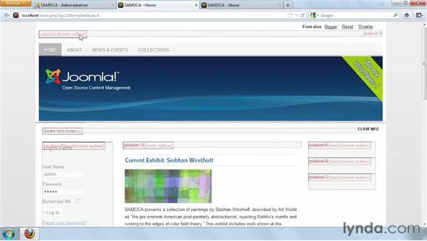 Configuring modules: Joomla! 2.5 Essential Training