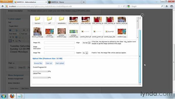 Creating a custom HTML module: Joomla! 2.5 Essential Training
