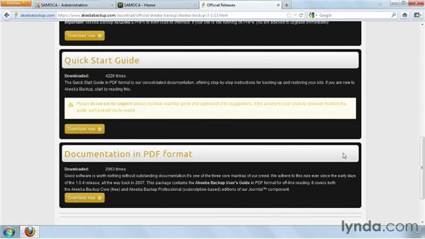 Installing Akeeba Backup: Joomla! 2.5 Essential Training