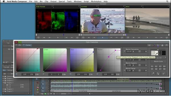 Performing color correction in Curves, from start to finish: Color Correction: Creating a Polished Look in Avid Media Composer