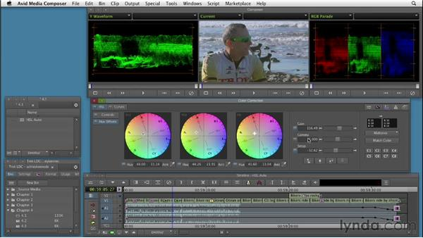 Using automatic color correction controls in HSL: Color Correction: Creating a Polished Look in Avid Media Composer