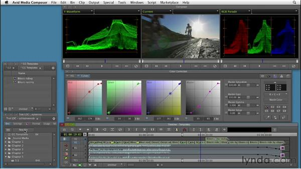 Using color correction templates: Color Correction: Creating a Polished Look in Avid Media Composer