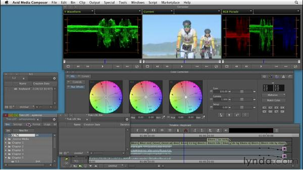 Using the keyboard to perform color correction tasks: Color Correction: Creating a Polished Look in Avid Media Composer