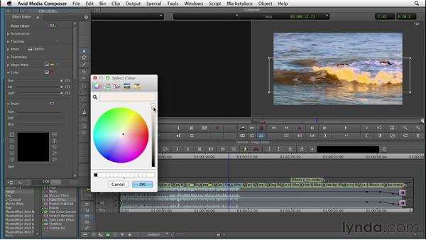 Performing secondary color correction with Magic Mask: Color Correction: Creating a Polished Look in Avid Media Composer