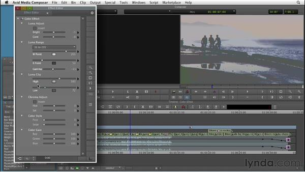 Using the Color effect: Color Correction: Creating a Polished Look in Avid Media Composer