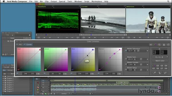 Creating a bleach bypass treatment: Color Correction: Creating a Polished Look in Avid Media Composer