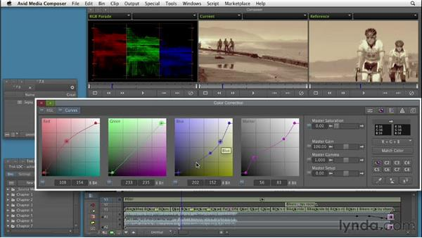 Creating a faded sepia treatment : Color Correction: Creating a Polished Look in Avid Media Composer