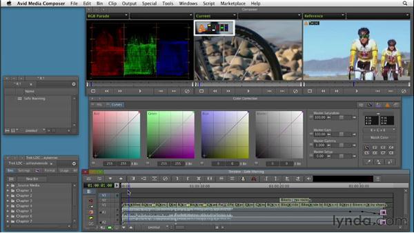 Understanding safe color warnings: Color Correction: Creating a Polished Look in Avid Media Composer