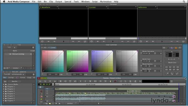 Manually correcting a show to be broadcast-safe: Color Correction: Creating a Polished Look in Avid Media Composer