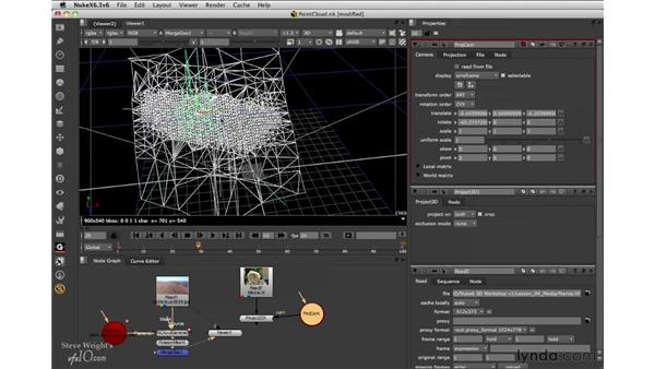 Projecting images on the mesh: Nuke 6.3 New Features