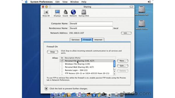 OS X's firewall: Learning Mac OS X 10.2 Jaguar
