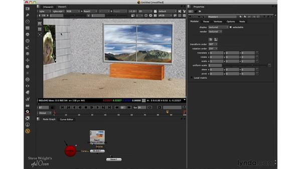 Modeling new 3D geometry: Nuke 6.3 New Features