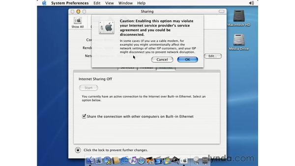 internet sharing: Learning Mac OS X 10.2 Jaguar