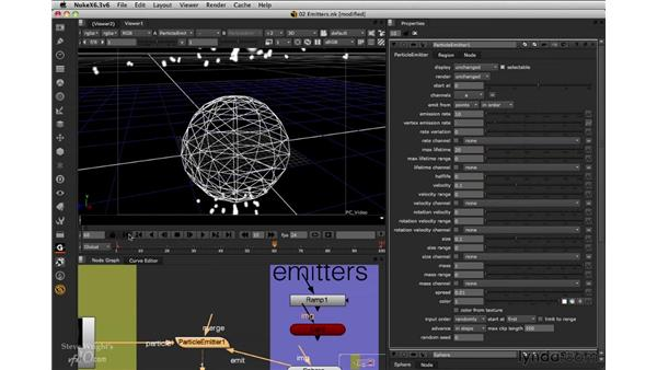 Adding emitters: Nuke 6.3 New Features