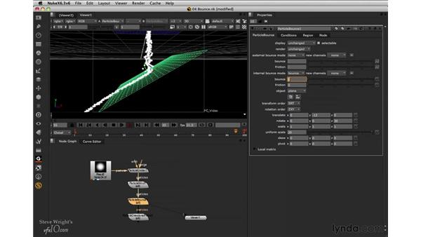 Bouncing particles: Nuke 6.3 New Features