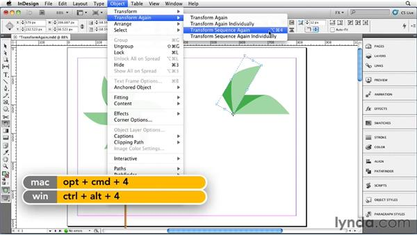 034 Learning Transform Again Tips and Tricks: InDesign FX