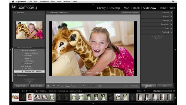 Launching the event slideshow: Lightroom Workflow Strategies