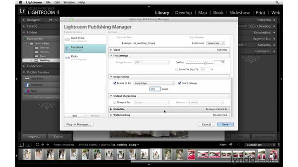 Uploading photos to Facebook during the event: Lightroom Workflow Strategies