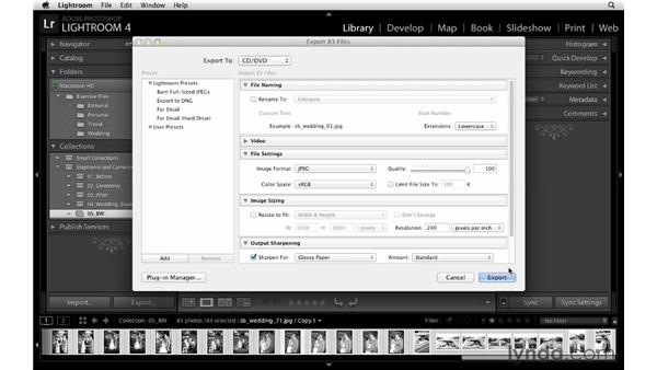 Exporting high-resolution photos for DVD or drives: Lightroom Workflow Strategies