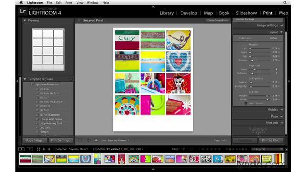 Creating multiple-image print layouts: Lightroom Workflow Strategies