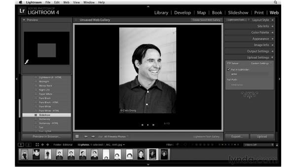 Creating a web gallery for client review: Lightroom Workflow Strategies