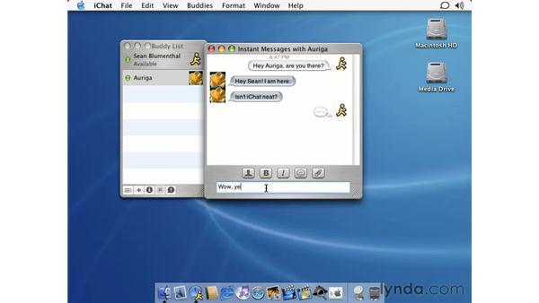 iChat: Learning Mac OS X 10.2 Jaguar