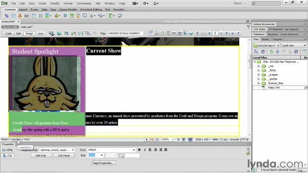 Applying multiple classes: Dreamweaver CS6 New Features