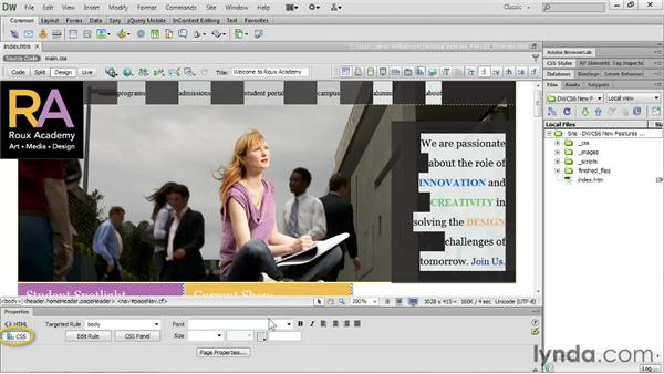 Reviewing support for web fonts: Dreamweaver CS6 New Features