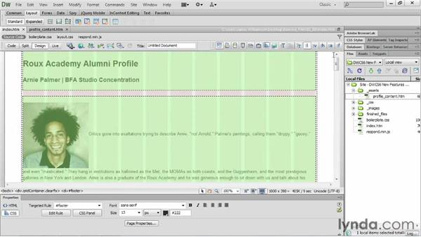 Working with fluid grids: Dreamweaver CS6 New Features