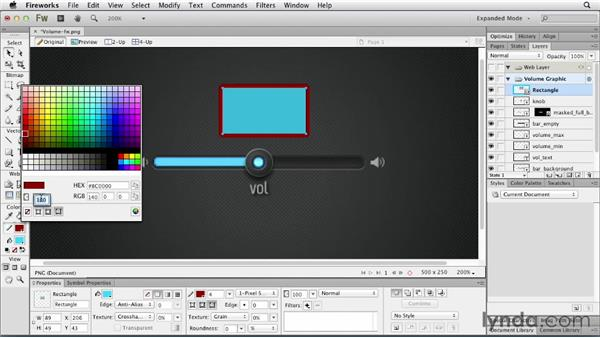 Setting opacity for fills and strokes: Fireworks CS6 New Features