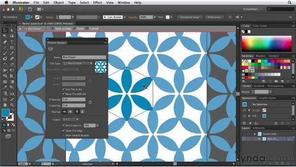 Exploring the Pattern Options feature: Illustrator CS6 New Features