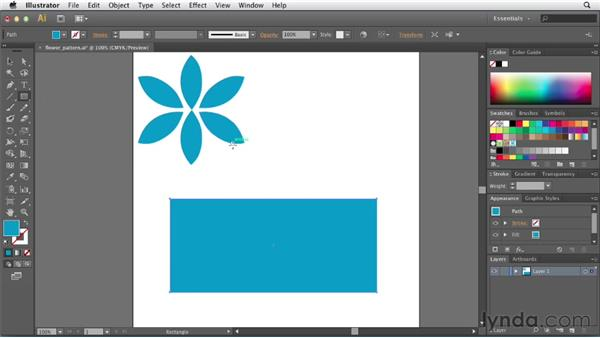 Creating a simple pattern: Illustrator CS6 New Features
