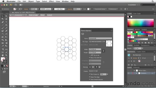 Creating a repeatable pattern for the web: Illustrator CS6 New Features