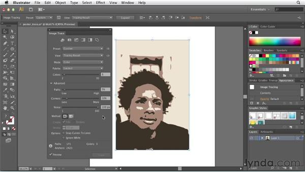 Exploring advanced tracing options: Illustrator CS6 New Features