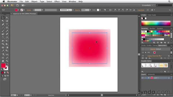 Improved performance: Gaussian Blur: Illustrator CS6 New Features