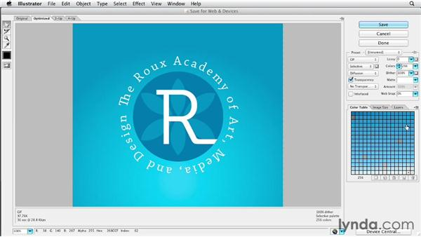 Exploring the Save for Web dialog: Illustrator CS6 New Features