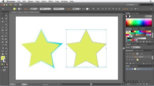Adding gradients to strokes: Illustrator CS6 New Features