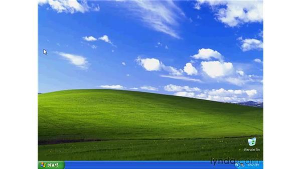 the desktop: Windows XP Essential Training