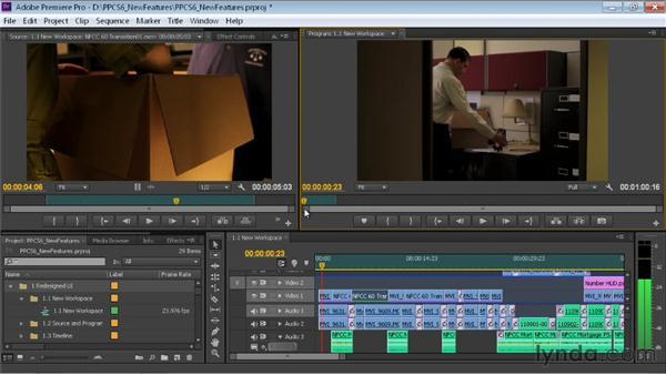 Exploring the new default workspace: Premiere Pro CS6 New Features