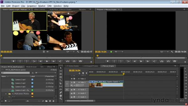 Setting up multi-camera sequences: Premiere Pro CS6 New Features