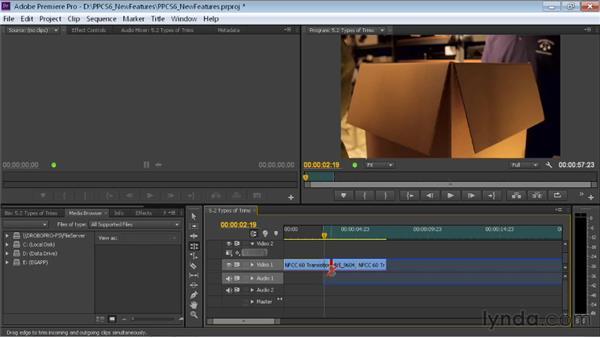 Examining trim types: Premiere Pro CS6 New Features