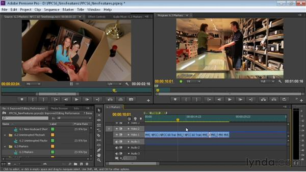 Using the improved clip markers: Premiere Pro CS6 New Features