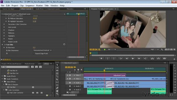 Using adjustment layers: Premiere Pro CS6 New Features